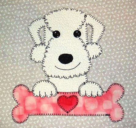 32 - Bedlington Terrier with bone