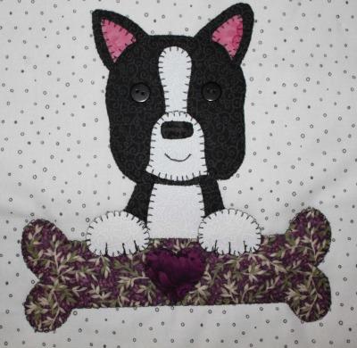 45 - Boston Terrier with bone