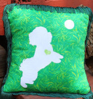 Bichon/Poodle/Terrier Dog pillow