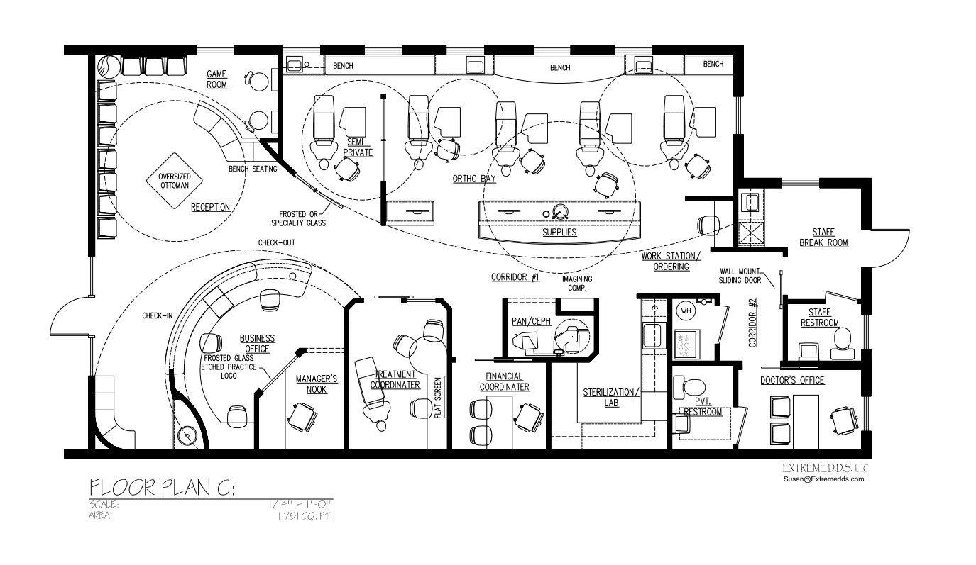 Dental Office Floor Plans, Orthodontic and Pediatric