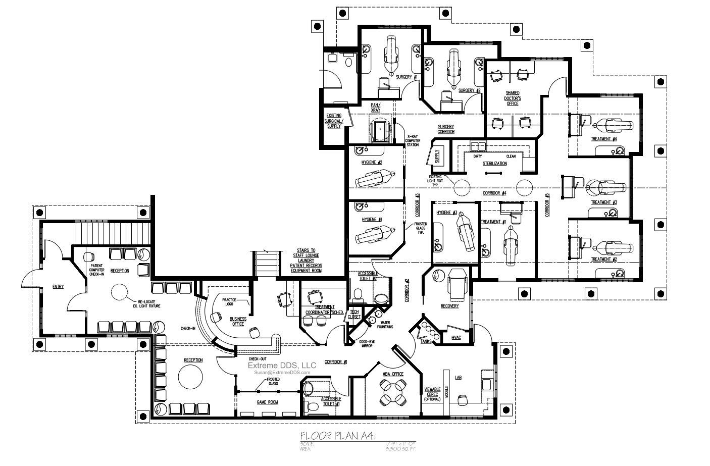 3,300 sq.ft. Surgery/Periodontics