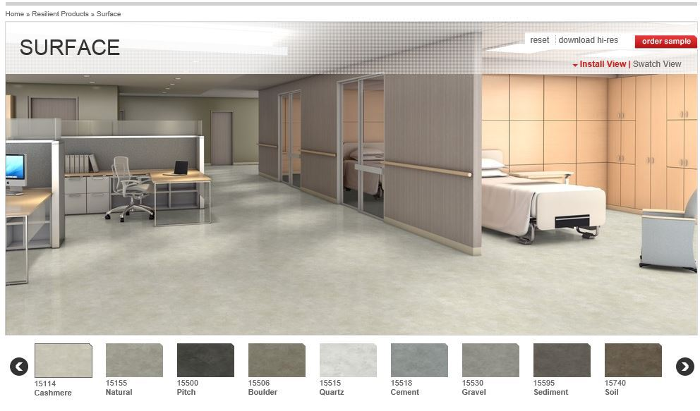 Optional flooring/Sterilization & Lab