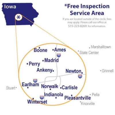 Pest Control Service Area Ames, Altoona,Adel, Ankeny, Boone, Carlisle, Clive, Des Moines, Grimes, Indianola, Johnston,Newton, Norwalk, Pleasant Hill, Polk City, Urbandale, Waukee, West Des Moines, Winterset
