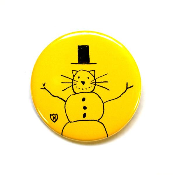 K Snowman Button
