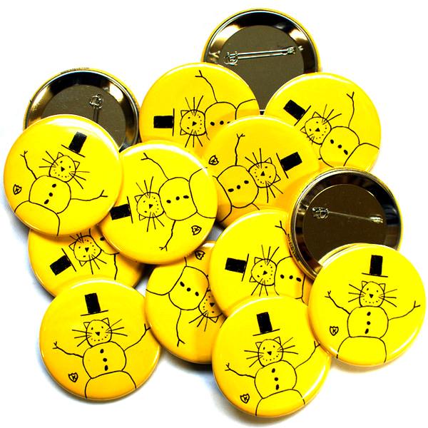 K Snowman Buttons