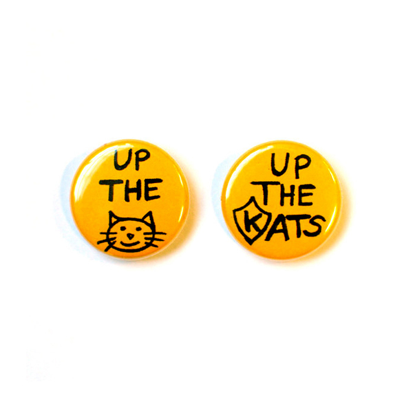 """Up The Cats!"" Button"