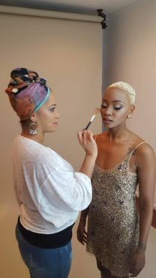 BTS with the lovely Bre Scullark of ANTM