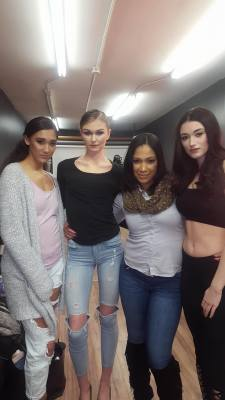 BTS with the lovely models from MMA Agency