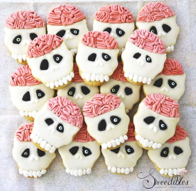 Brainy Skull Cookies