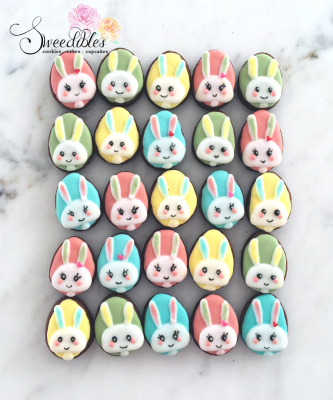 Mini Easter Egg-Bunny Cookies