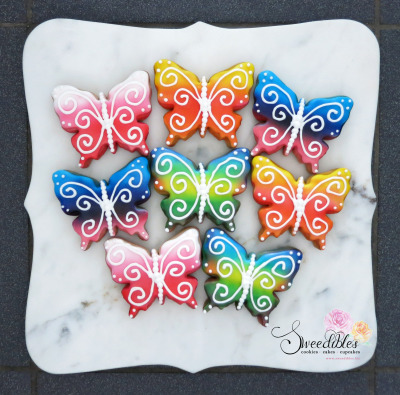 Rainbow Butterfly Cookies