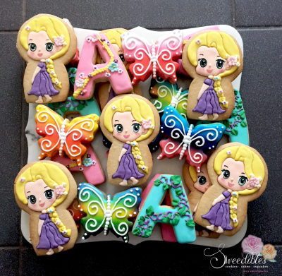 Rapunzel Themed Cookies