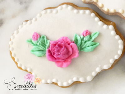 Rose Plaque Cookie