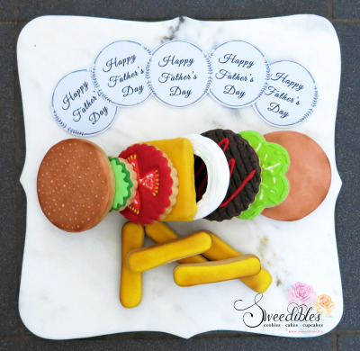 Make a Burger Cookie Set