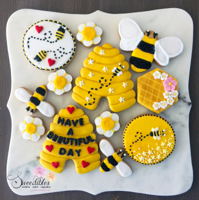 Bee Themed Cookies