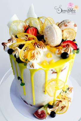 Lemon Dripping Cake