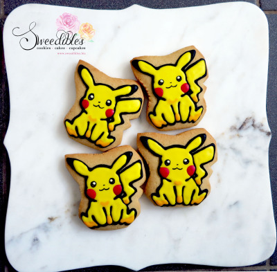 Pikachu Pokemon Cookies