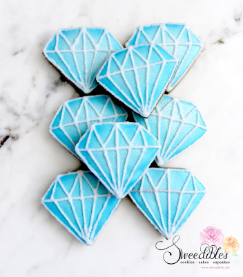 Blue Diamond Cookies