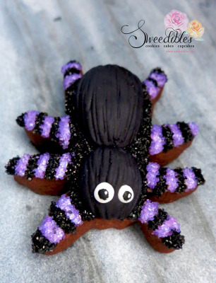 Purple Spider Halloween Cookie