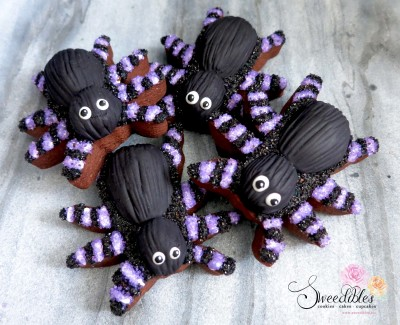 Purple Spider Halloween Cookies