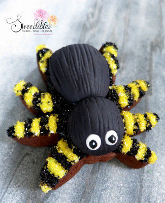 Yellow Spider Halloween Cookie