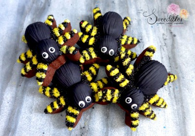 Yellow Spider Halloween Cookies