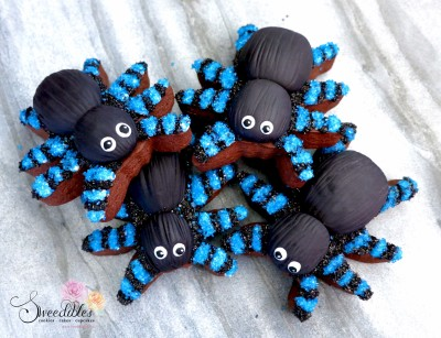 Blue Spider Halloween Cookies