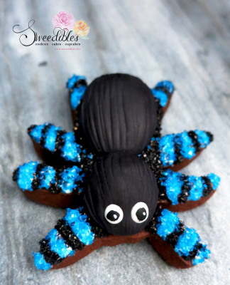 Blue Spider Halloween Cookie