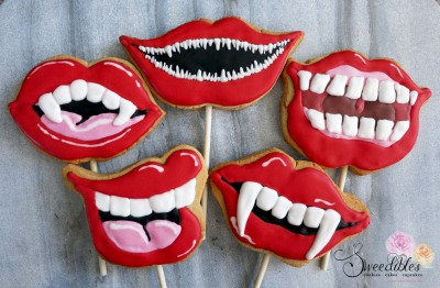 Mouth Photo Booth Cookies
