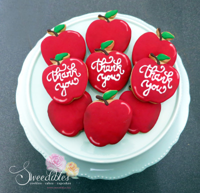 Teacher's Appreciation Cookies - Big Apples
