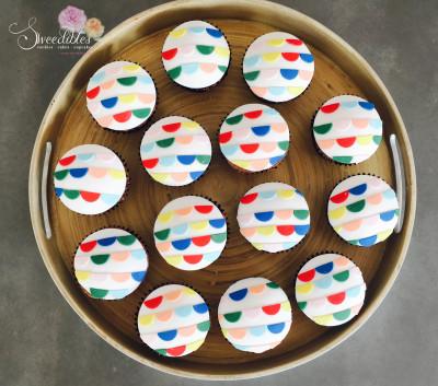 Half Moon Bunting Cupcakes