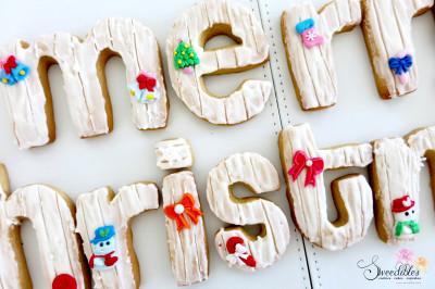 Christmas Alphabet Cookies