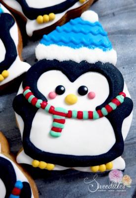 Blue Penguin Cookie