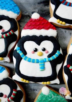 Red Penguin Cookie