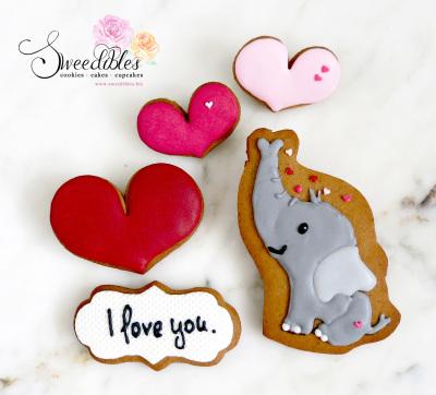 Ellie Love Valentine Cookies