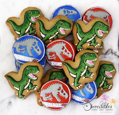 Jurassic Themed Cookies