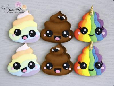Cute Poo Cookies