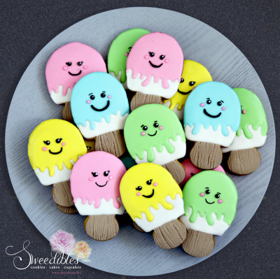 Popsicle Themed Cookies