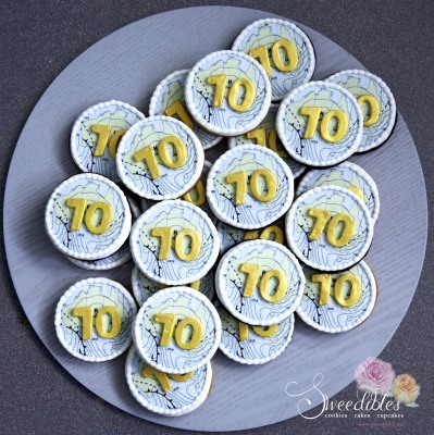 70th Birthday Cookies
