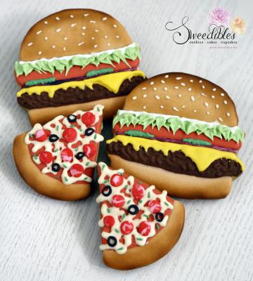 Burgers & Pizza Cookies
