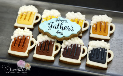 Beer Cookies for Father's Day