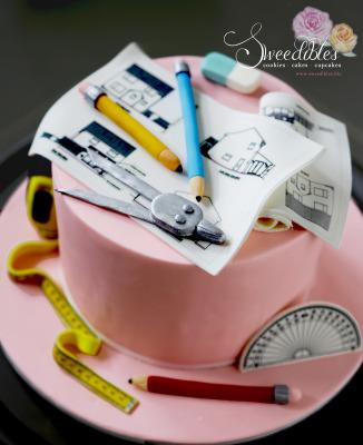 Architect Themed Cake