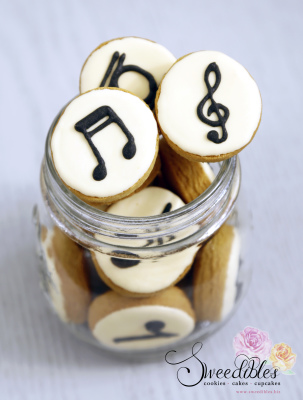 Mini Musical Notes Cookies