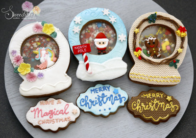 Christmas Snow Globe Cookie