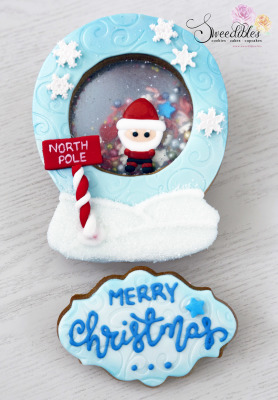 Santa Snow Globe Cookie