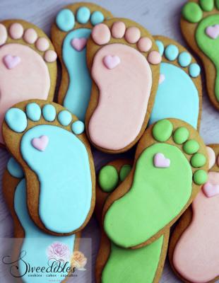 Baby Feet Cookies