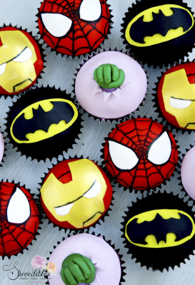 Superheros Themed Cupcakes