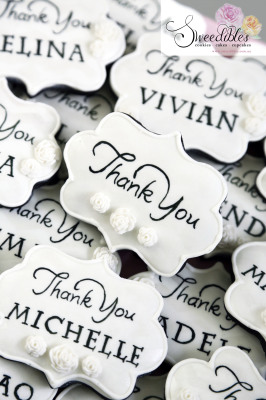 Personalised Thank You Cookies