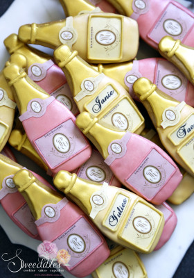 Champagne Themed Cookies