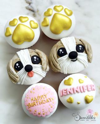 Shih Tzu Cupcakes